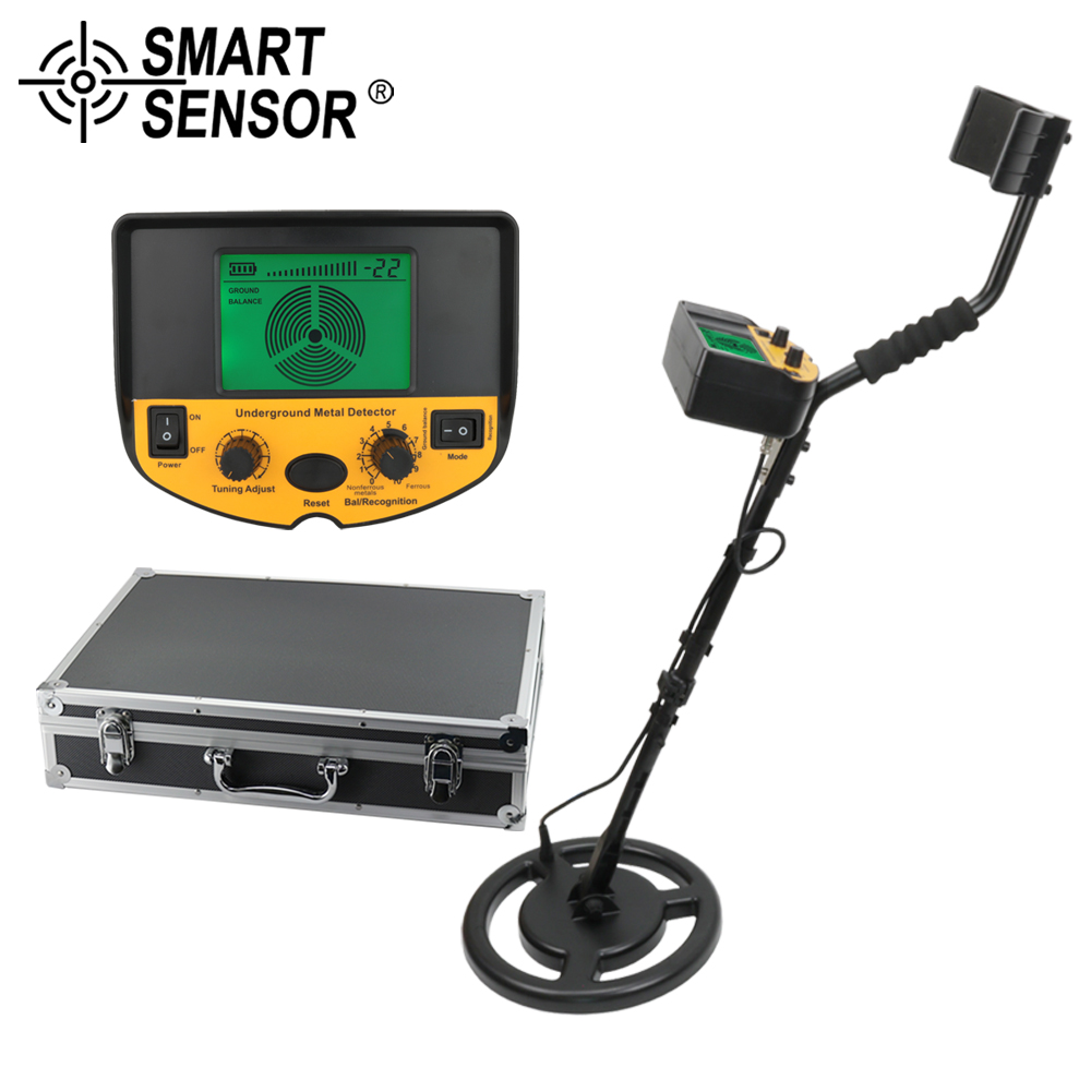 US $148 99 30% OFF|metal detector underground garrett metal detector Gold  Digger Treasure Hunter pinpointer detector depth 2 5m Smart Sensor AS924-in