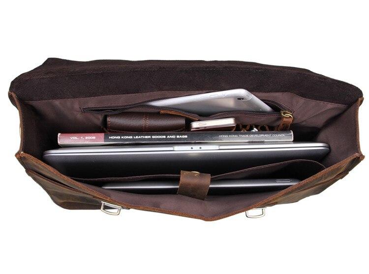 J.M.D Crazy Horse Leather Unique Design Handbag Fashion Men's Briefcase Business Laptop Bag In Crossbody Bag 7223R-1