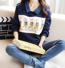 Maternity clothes Nursing tops Winter Sweater Breastfeeding Tops Maternity Tee Thermal font b pregnancy b font
