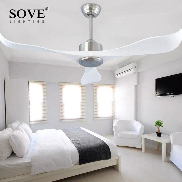 Sove Moderne Plafond Fans Zonder Licht Afstandsbediening Wit Plastic ...