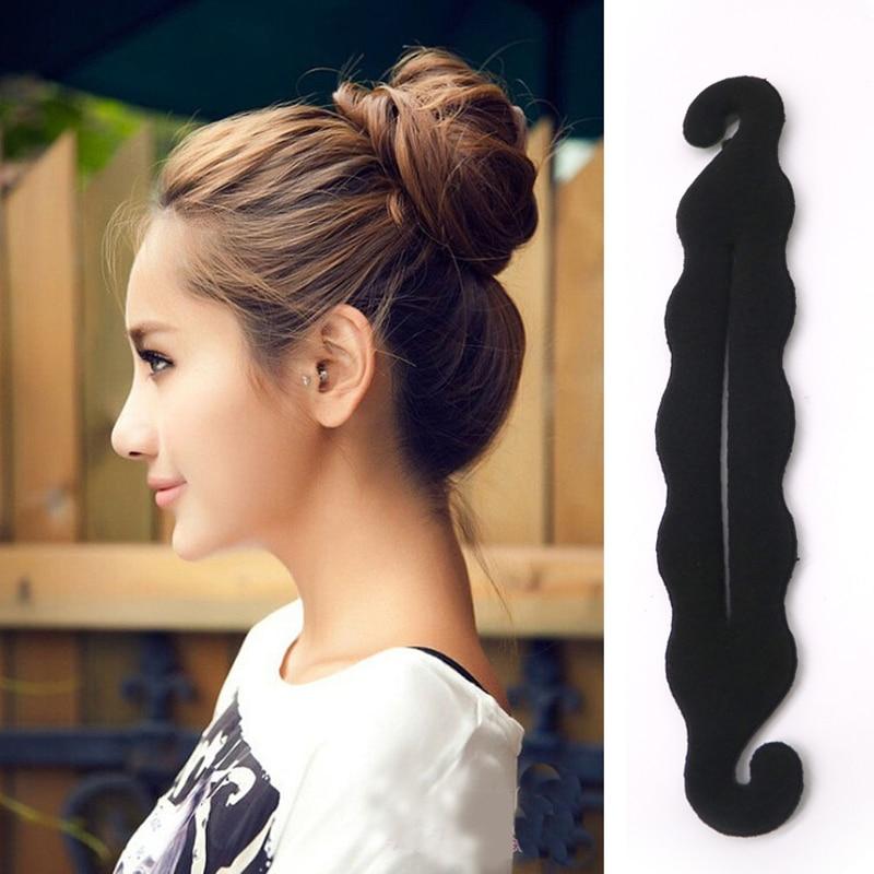 2PCS Girl Hair Band for Women Accessories Headband Foam Sponge Device Quick Messy Donut Bun Updo   Headwear   Hair Donut   Headwear