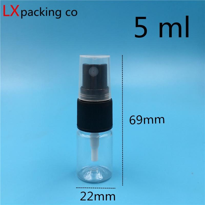 transparente preto pulverizador perfume parfume cosméticos recipientes 50 pçs