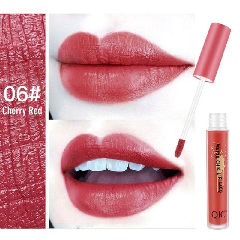 6 Colors New Matte Liquid Lipgloss Moisturizer Smooth Lip Stick Waterproof Long Lasting Lip Gloss Beauty Lipstick Cosmetics 6