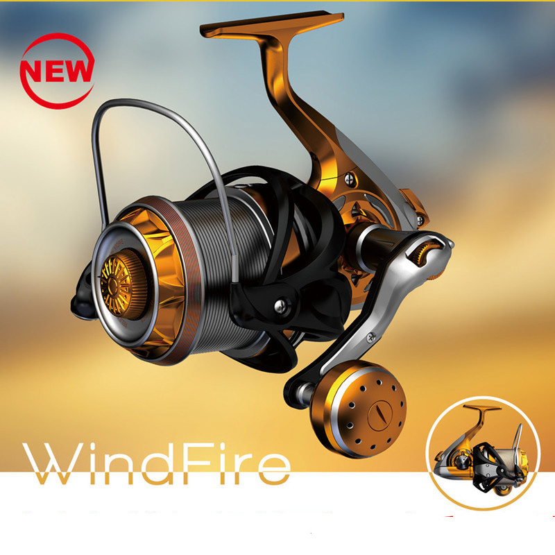 Sports & Entertainment Fishing Reels Super Long Casting Fishing Reels Fiber Carbon Body All Stainless Steel 9+1bb Saltwater Resistant 8000/9000 Patent Spinning Reel