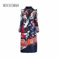 Новое поступление 2018, элегантное Модное теплое длинное пальто для женщин