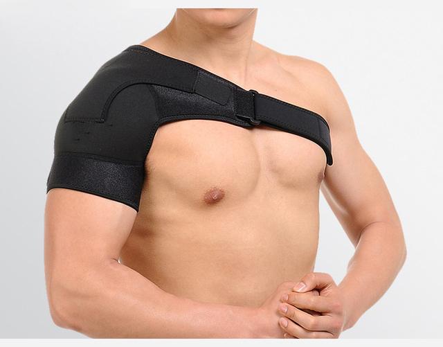 Brace Luxación Lesión Dolor Artritis Magnética de Hombro Soporte Correa Deportes Solo Hombro Soporte Wrap Cinturón Pad Transpirable