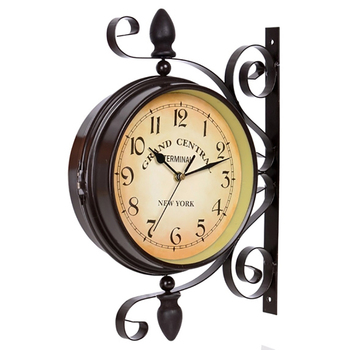 Creative American Silent Wall Clocks Vintage Creative Big Digital Round Wood Hanging Clock Kitchen Clocks Home Decoration Gifts