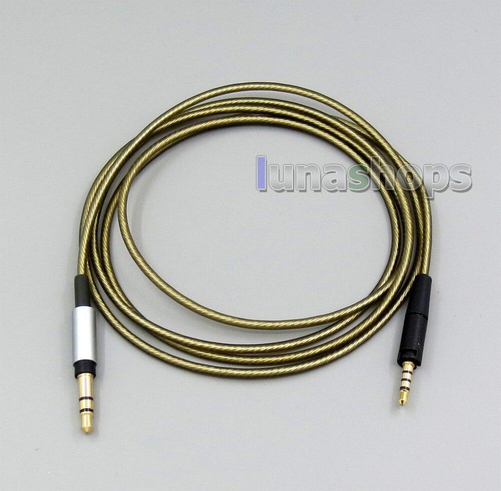LN006322 3.5mm Silver Plated Mic Headphone Earphone cable For Sennheiser HD4.30 HD4.40BT HD4.50BTNC