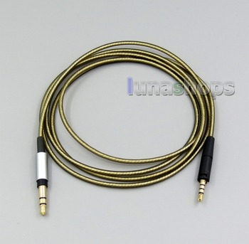 3.5mm Silver Plated Mic Headphone Earphone cable For Sennheiser HD4.30 HD4.40BT HD4.50BTNC