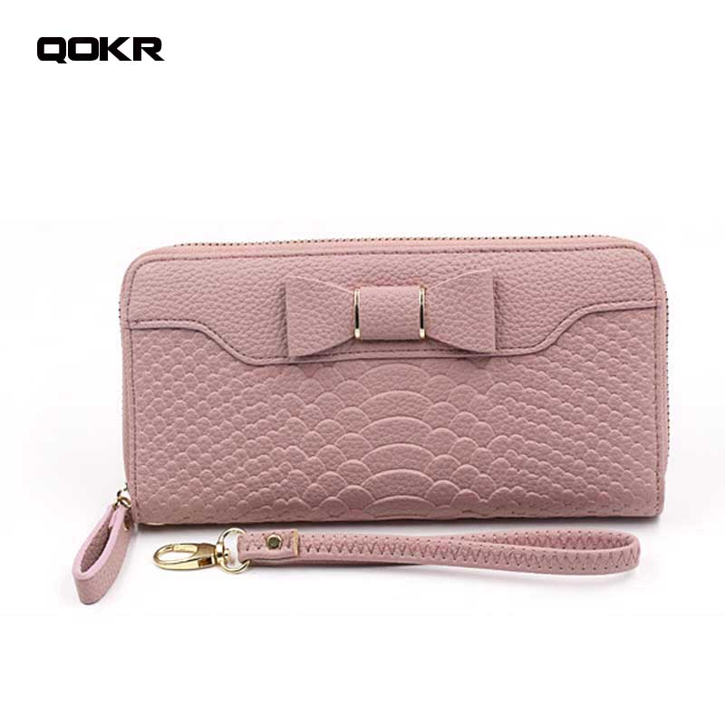 QOKR New Wallet For Women Wallet Long Lovely Pu Leather For lady Purse Female Coin Card Clutch fashion girl bag Big Capacity ...
