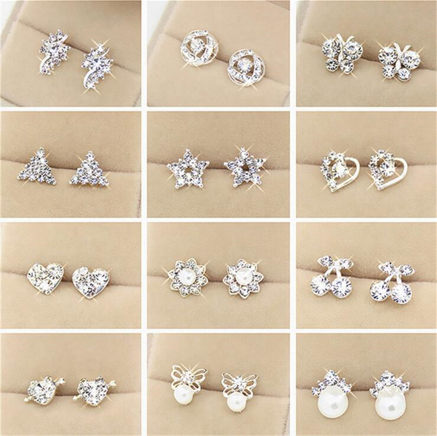 Animal Stud Earrings For Women Korean Cute Boucle D Oreille Geometric Studs Fashion Jewelry Oorbellen Perlas Aros Flower Earings In From