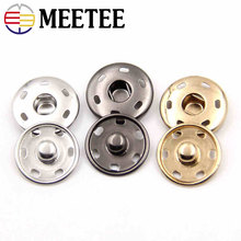 10Set Gold Metal Snap Button Shirt Coat Buttons Fashion Press Fasteners DIY Sewing Accessories C7-2