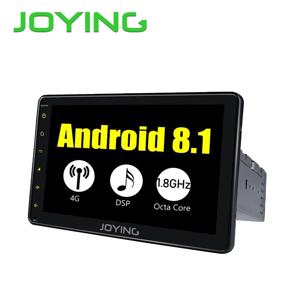 Радуясь последние 8 дюймов один 1 din универсальный сенсорный экран 4 г DSP автомобиля радио плеер Android 8,1 автомобиль аудио SPDIF Стерео gps без CD/DVD