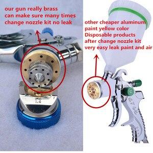 Image 2 - 601 Pistola A spruzzo HVLP PISTOLA A SPRUZZO di gravità di alimentazione in acciaio inox ugello 1.4 millimetri 1.7 millimetri 2.0 millimetri auto auto viso pistola A Spruzzo della vernice