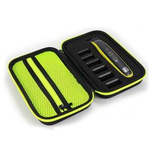 Image 3 - Etui Portable pour Philips OneBlade tondeuse rasoir et accessoires EVA sac de voyage Pack de rangement boîte couverture fermeture éclair pochette avec doublure