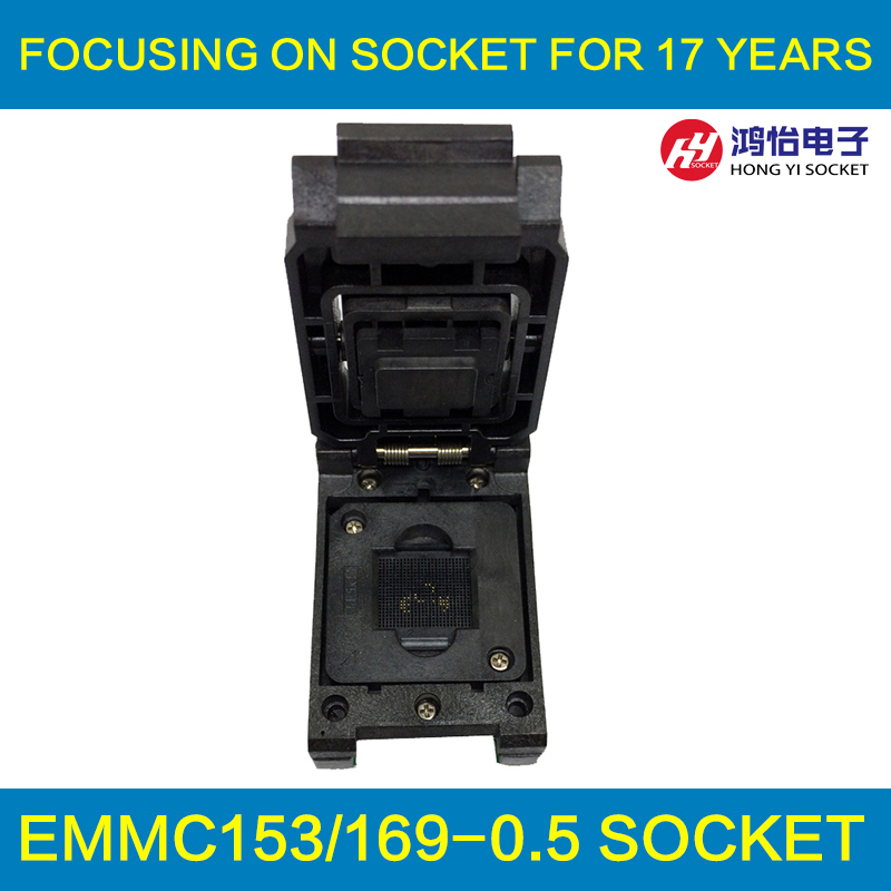 eMMC153/169 to DIP48 Test Socket IC Body Size 11.5x13mm Pin Pitch 0.5mm BGA169 BGA153 Clamshell Reader Adapter Data Recovery 60pcs lot 8 pin dip square hole ic sockets adapter 8pin pitch 2 54mm connector