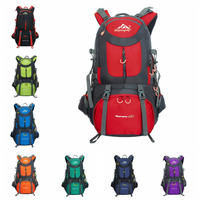 2017 50L Women And Men Travel Hiking Camping Backpack Outdoor Mountaineering Bags Water Repellent Oxford Cloth