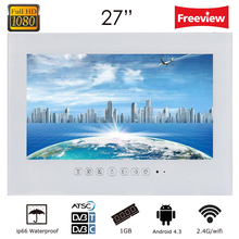 2014 ब्रांड न्यू 27 इंच मुफ्त शिपिंग वाईफाई फुल-एचडी 1080 पी एंड्रॉइड 4.2 स्मार्ट मैजिक रियल मिरर टीवी
