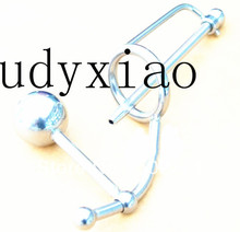 Sex Men's Chastity Device Steel Urethral Catheter Cage with Anal Ball Penis Plug Tube Penis Ring Adult  Toys