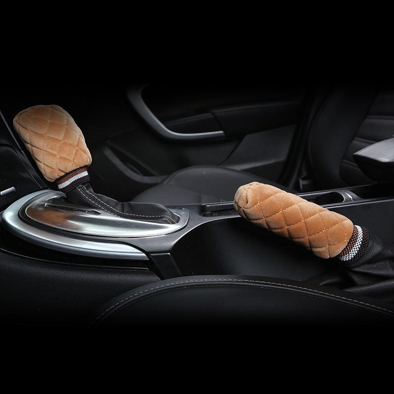 2pcs/Set Car Stalls Cover Grips Protector Handbrake Cover Auto Universal Automotive