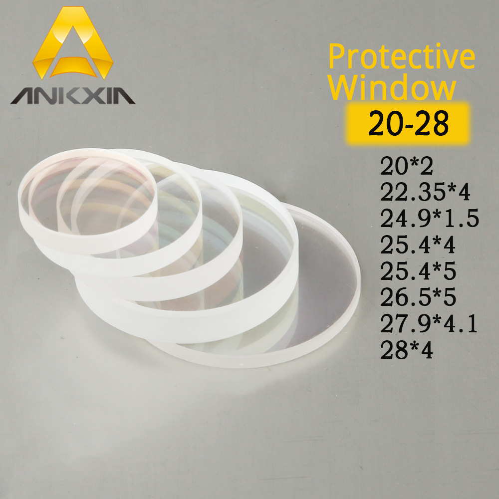 Glass Laser Protection Lens Window Protective Windows Dia22.35/24.9/25.4/26.5/27.9/28 Fiber Laser Cutting Machine Debris Shield