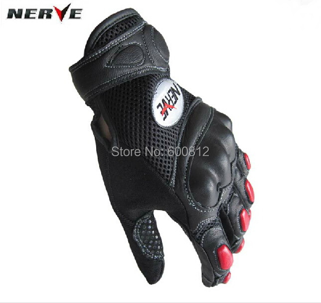 Nerve 2014 new arrival summer mesh NERVE motorcycle glove off-road breathable genuine leather racing gloves FREE SHIPPING 100% waterproof authentic germany nerve kq 019 leather motorcycle gloves cross country knight glove winter warm breathable