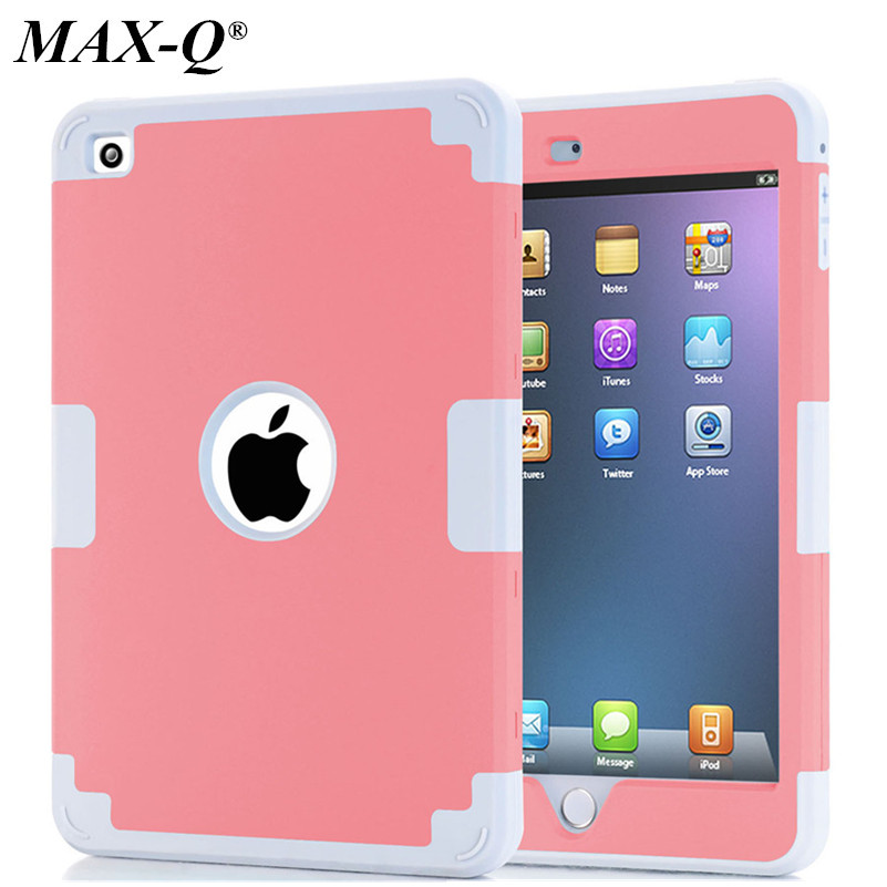 For iPad mini 4 Retina Kids Safe Shockproof Heavy Duty Silicone Hard Case Cover Screen protect tablet pc shell back cover mini 4 heavy duty shockproof case hybrid silicone plastic back cover for ipad mini 4 tablet stand cover 7 9 for ipad mini 4