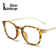 2fb27bbb93 Caleidoscopio gafas claro gafas marco hombres mujeres Retro Metal marco  transparente gafas marcos ópticos