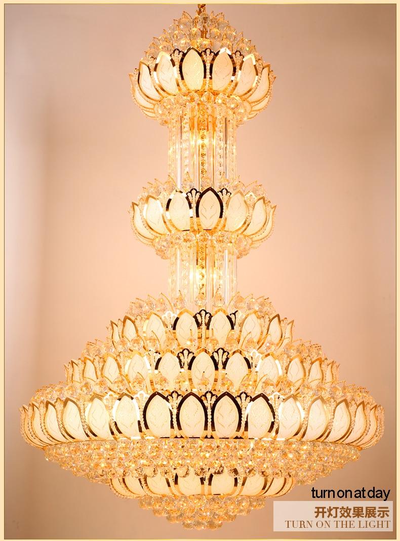 Kristalni luster za rasvjetu sa lusterom LED Zlatni kristalni lusteri - Unutarnja rasvjeta - Foto 5