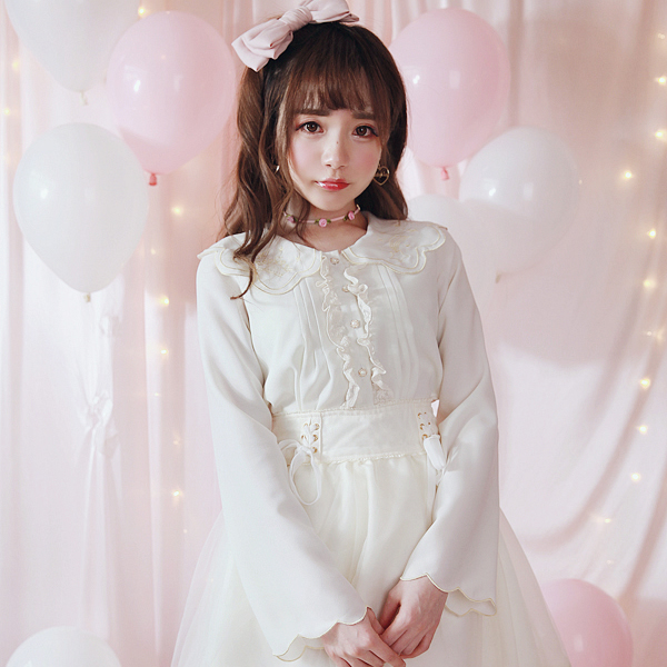 Blouses & Shirts Princess Sweet Lolita Shirt Bobon21 Exclusive Design Meteor Embroidered Ultra Flower Petals Sleeve Doll Collar Shirt T1333 As Effectively As A Fairy Does