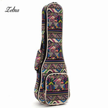 Zebra 21 23 26 Ukulele Bags Ukelele Bag Canvas Guitar Case font b Box b font