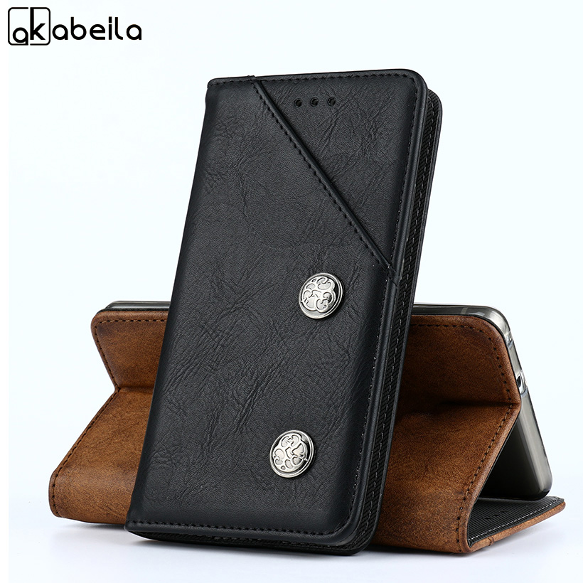 AKABEILA Luxury Cases For Vernee Thor Plus Case 5 5 Inch Retro Leather Back Covers Housing