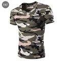 [Tamanho asiático] homem Ocasional Camuflagem T-shirt Dos Homens da marca T Camisa Militar Do Exército Combate Tático Sportwear Acampamento Camo Mens T Camisas