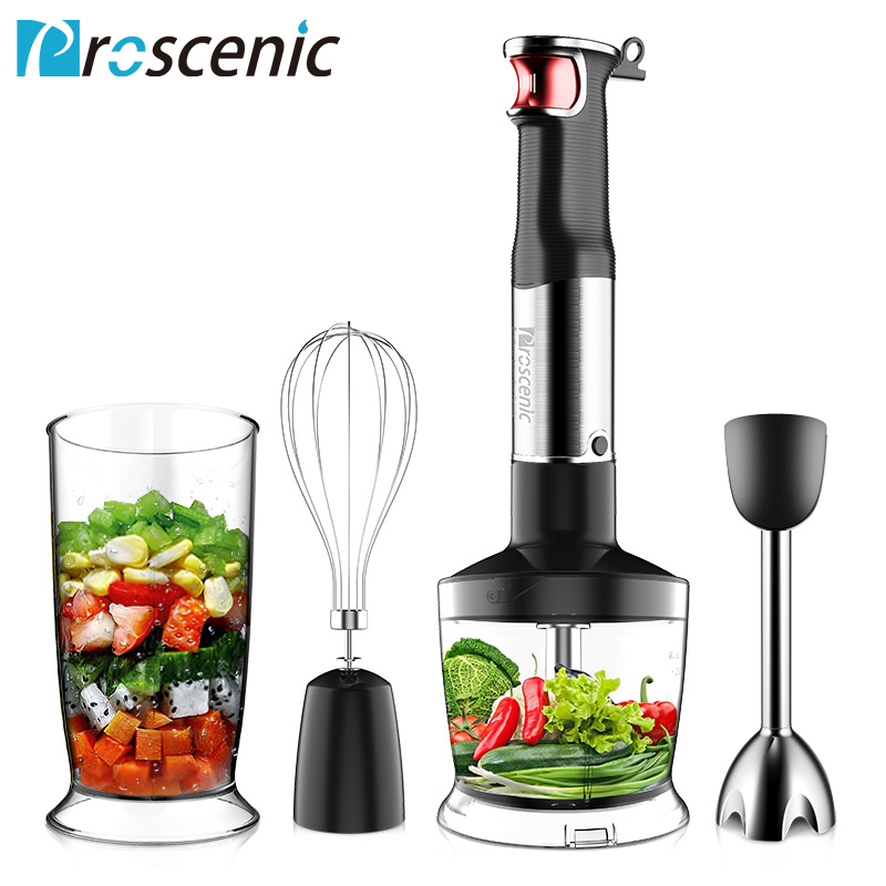 Proscenic Hand Immersion Blender Powerful Smart Speed Control Hand Blender Set 4-in-1 Handheld Stick Blender Mixer BPA-Free Beak mq705 electric hand blender stick blender hand mixer