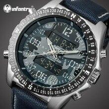 Мужские часы от ведущего бренда, роскошные аналоговые цифровые военные часы, мужские тактические армейские большие часы для мужчин, нейлоновые мужские часы