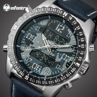 INFANTRY Mens Watches Top Brand Luxury Analog Digital Military Watch Men Tactical Army Big Watch for Men Nylon Relogio Masculino