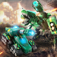 Remote Control Deformation Tank King Kong Toy Boy Voice Control Deformation Dinosaur Car Cannon Robot Tank Children's Toys