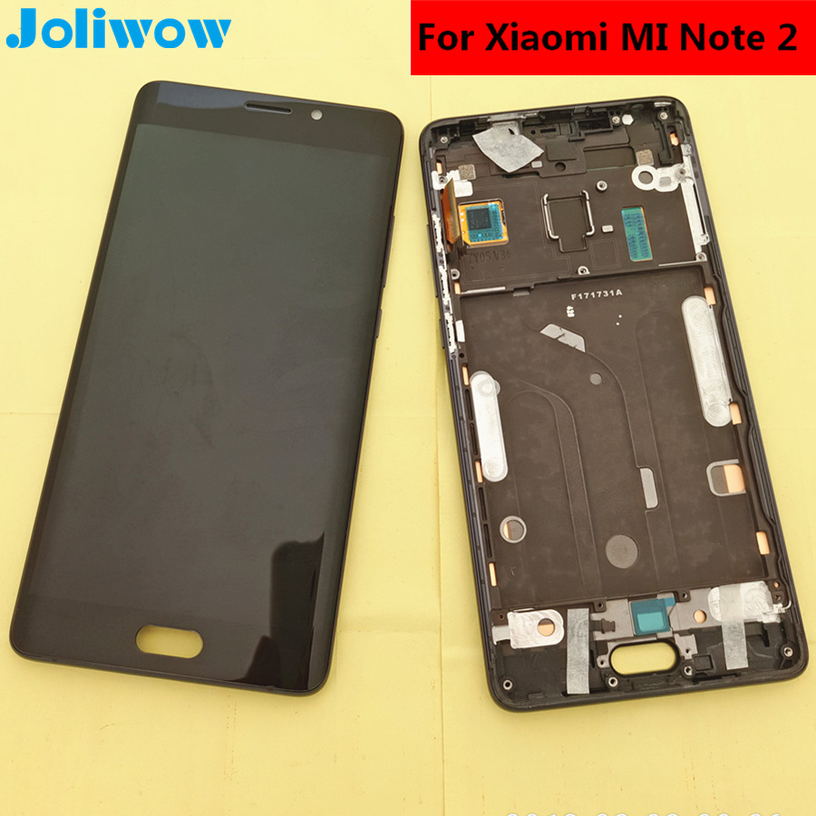Testé! Pour Xiao mi mi Note 2 note2 écran lcd + écran tactile + cadre Assemblée accessoires de remplacement pour téléphone 5.7 écran Incurvé