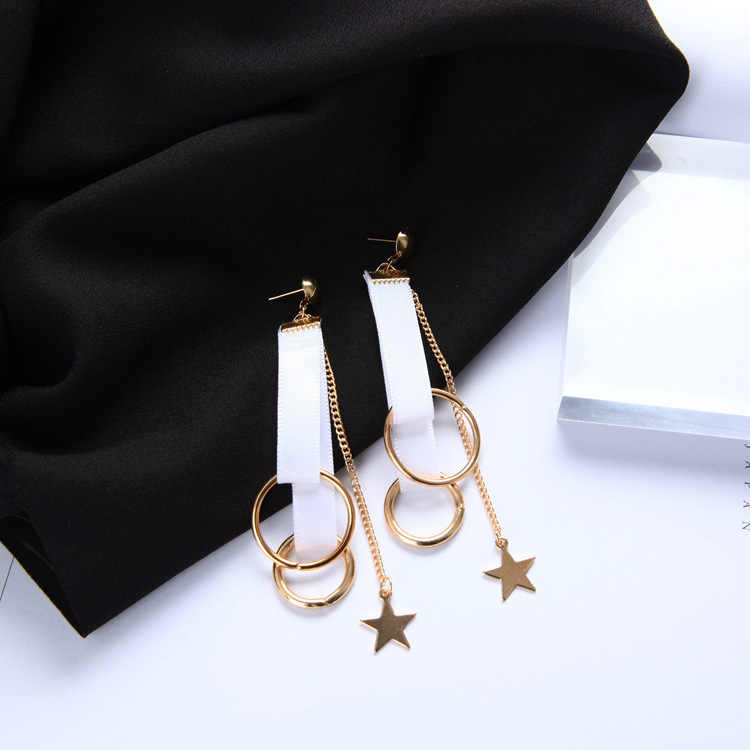 YOBEST White flannel Drop Earrings Set For Women Girl Brincos star tassel flower letter Earrings party Gift jewelry