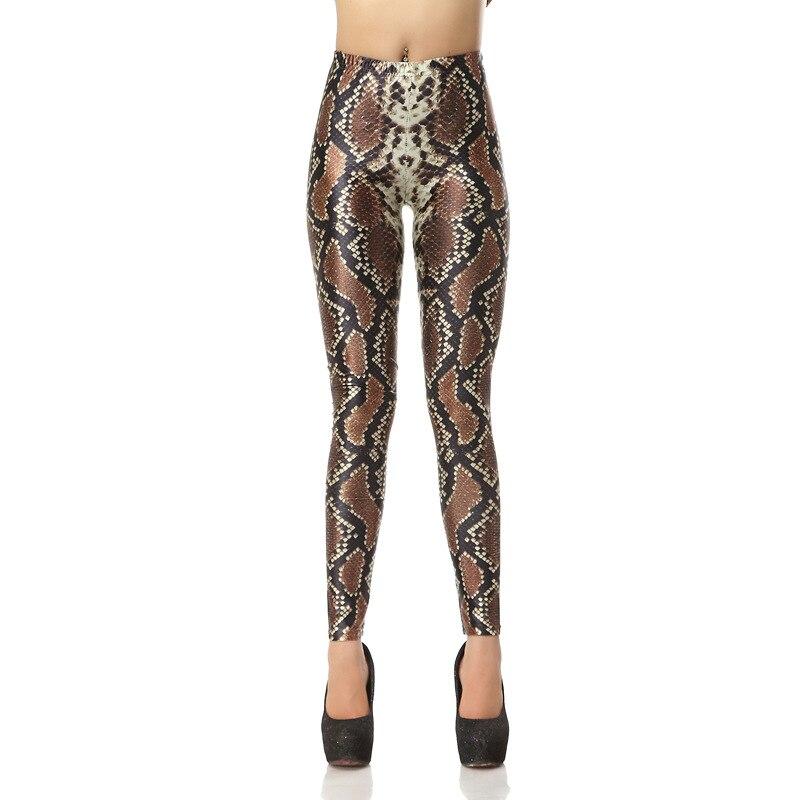 Snake Skin Leggings 3D Print Women Sexy Slim Fitness Leggings High Waist Elastic Causal Leggings Plus Size Leggins Mujer