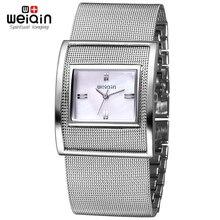 WEIQIN Relojes de Las Mujeres de Plata de Lujo de Alta Calidad Resistente Al Agua Montre orologio donna Vestido de Mujer Relojes de Pulsera de Acero Inoxidable