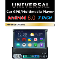 Android 6.0 Car Radio Stereo 1 DIN wifi bluetooth 7 Touch Screen 1Din 1024*600 GPS Navigation MP4 MP5 DVD Car Audio Player