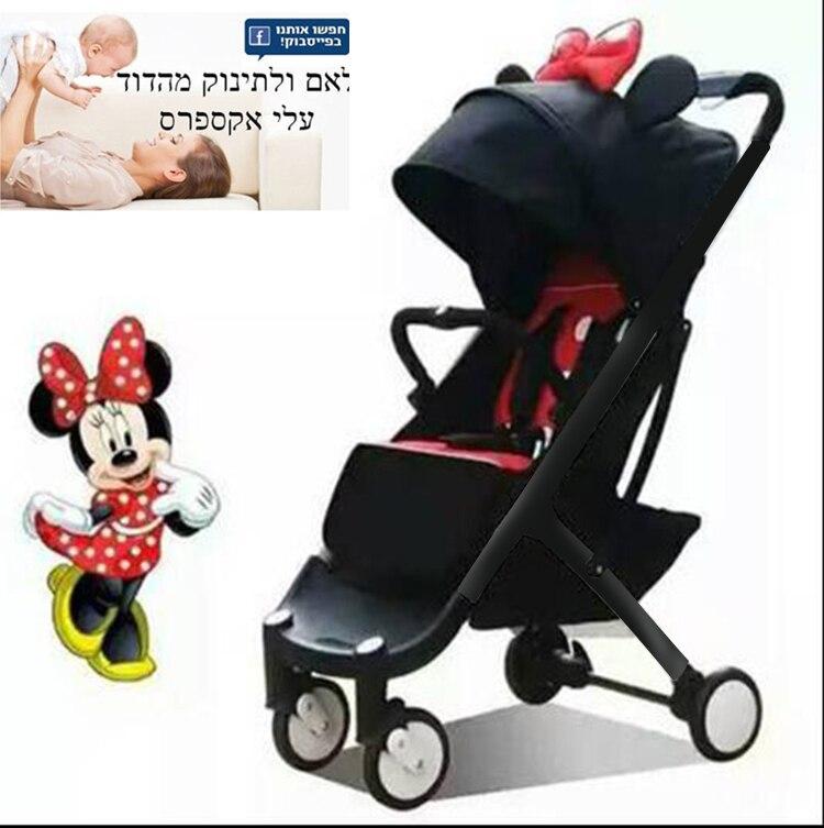 ¡IL envío gratis! BabyYoya plus bebé cochecito 5,8 kg plegable Carro de bebé recién nacido uso internado cochecito 11 regalo gratis de 0-4 años bebé