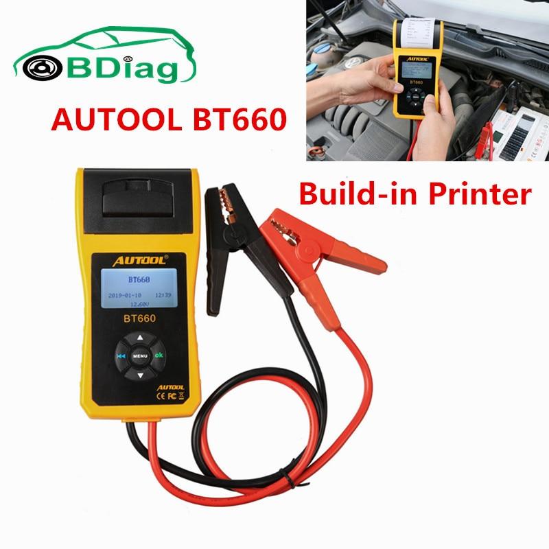Цена за 100% Оригинальные autool BT660 Батарея тестер autool BT 660 Встроенный принтер Батарея проблемы analizer Поддержка нескольких языков
