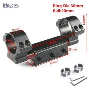 """Image 1 - Montagem flexível do escopo do rifle 25.4mm 1 """" / 30mm anel adaptador superior liso com pino de parada 20mm/ 11mm picatiiny ferroviário tecelão de encadernação nenhum logotipo"""