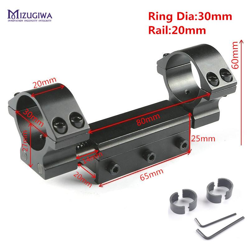 Rifle Scope Flexible Mount  25.4mm 1 / 30mm Ring Flat Top Adapter w/Stop Pin 20mm/ 11mm Picatiiny Rail Dovetail Weaver no logo