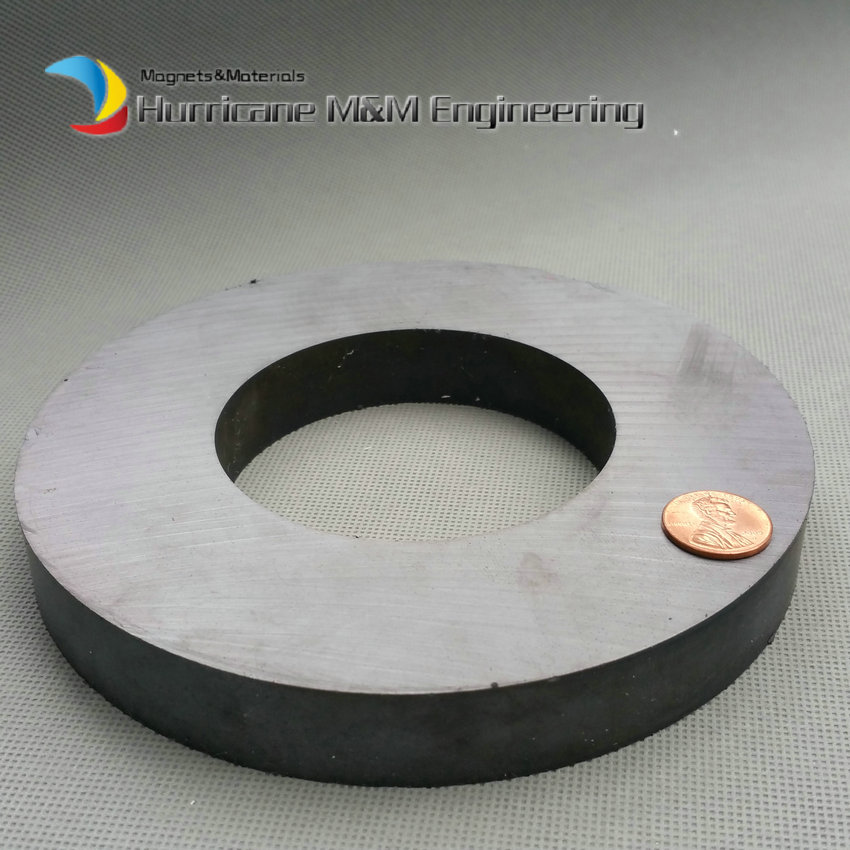 Ferrite Magnet Ring OD 156x80x20 mm 6 large grade C8 Ceramic Magnets for DIY Loud speaker Sound Box board Subwoofer 12 x 1 5mm ferrite magnet discs black 20 pcs