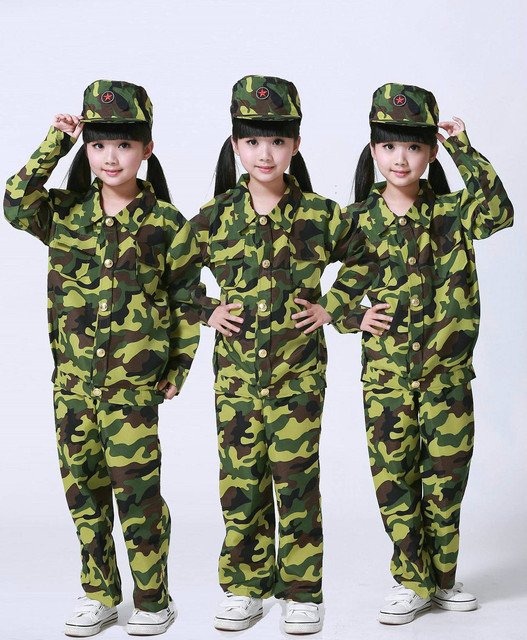 21f660a180c6 Camouflage Clothing Set Kid Military Uniform Clothes Children s ...