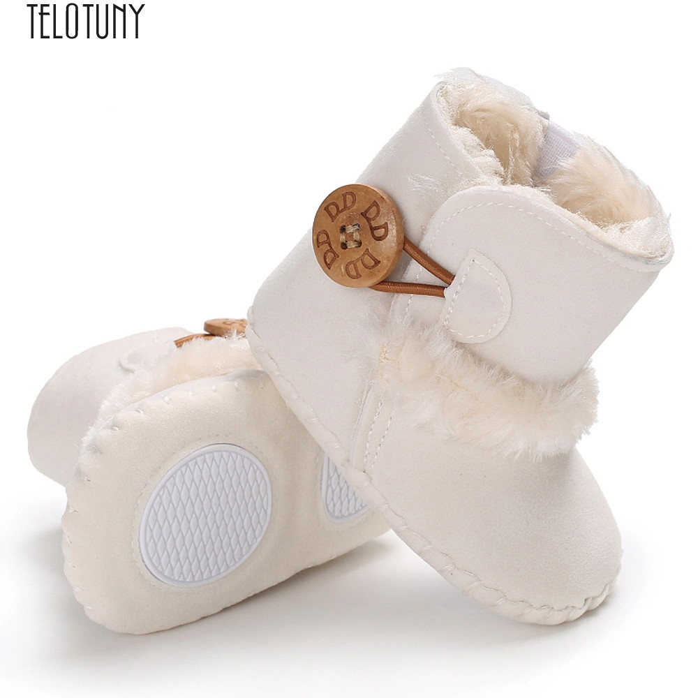 TELOTUNY First Walkers Cute Boy Girls Baby Soft Sole Snow Boots Soft Crib Shoes Toddler Boots Baby Crib Boots Fashion New Nov24