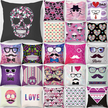 Cartoon  funny picture love letter square Pillow case flower skull weeping pillow cover size 45*45cm